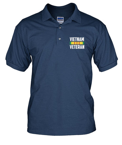 Never underestimate an old man who flew in a Huey? Vietnam veteran men's polo Short Sleeves - Nichefamily.com
