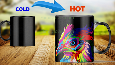 Chicken-mug heat changing color magic mug Mugs carthook_checkout, mug, mugs- Nichefamily.com