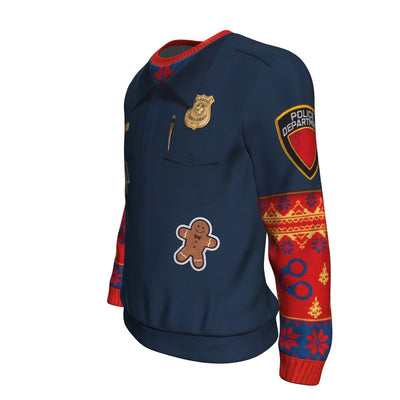 Buy Police Navidad UGLY CHRISTMAS SWEATER - Familyloves hoodies t-shirt jacket mug cheapest free shipping 50% off