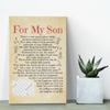 For my son...gallery quality canvas Canvas Wall Art Template dad, family, mom, son- Nichefamily.com