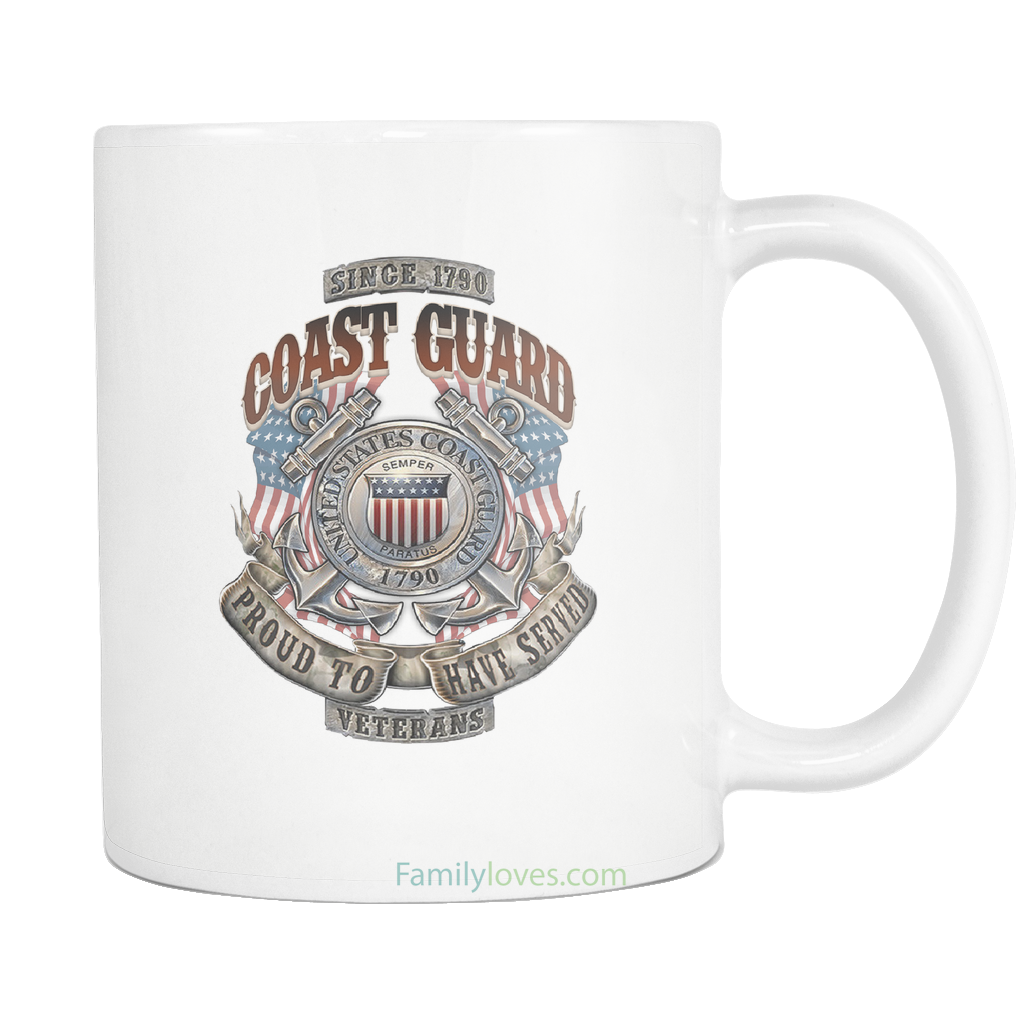 Buy U.S COAST GUARD, PROUD TO HAVE SERVED, SINCE 1790 MUG - Familyloves hoodies t-shirt jacket mug cheapest free shipping 50% off