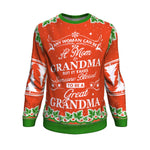 any woman can be a mom grandma but it takes someone blessed to be a great grandma UGLY CHRISTMAS SWEATER Sweatshirt carthook_checkout, GRANDMA, GRANDMA GIFT, uglysweater- Nichefamily.com
