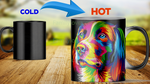 Dog painting heat color changing mugs magic mugs Mugs carthook_checkout, dog, mug, mugs- Nichefamily.com
