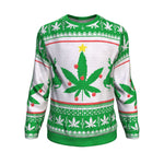 Weed christmas tree ugly christmas sweater Sweatshirt carthook_checkout, christmas sweatshirt, grandfather, grandpa, uglysweater- Nichefamily.com