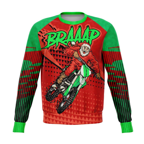 BRAAAP ugly christmas sweater New Athletic Sweatshirt - AOP - Nichefamily.com