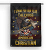 American Eagle Christian Cross House Flag  House Flag- Nichefamily.com