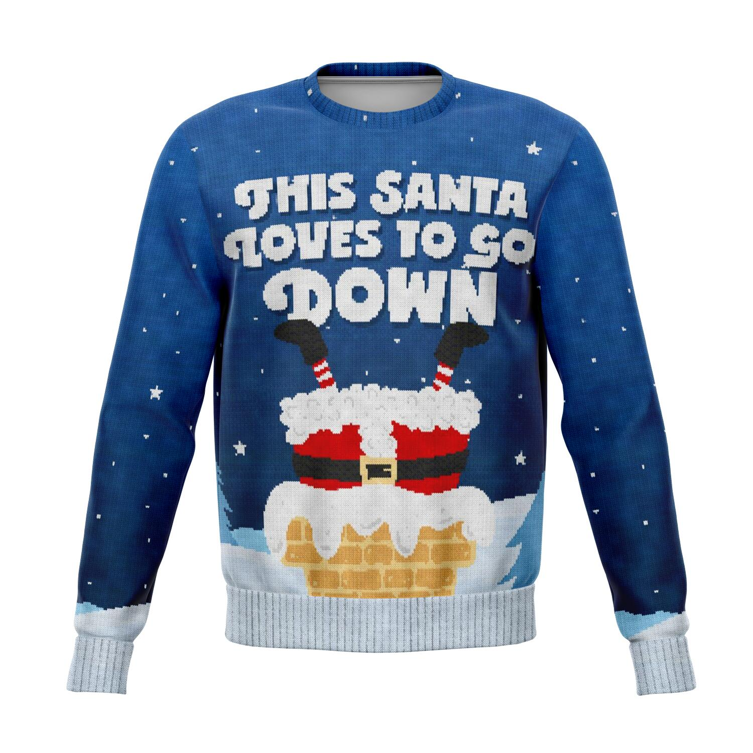 Santa Goes Down - Athletic Sweatshirt