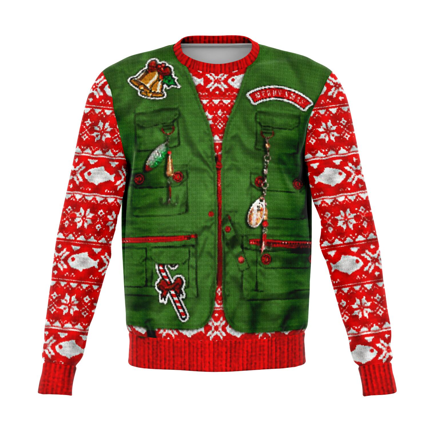 Merry Fishmas UGLY CHRISTMAS SWEATER