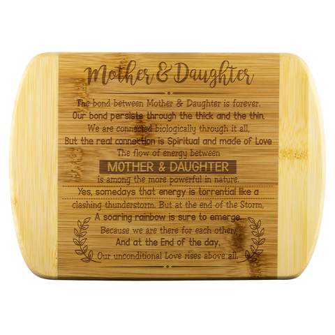 Mother & Daughter The Bond Between Mother & Daughter Wood Cutting Boards - Nichefamily.com