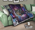 Native Wolf Galaxy Quilts  - Nichefamily.com