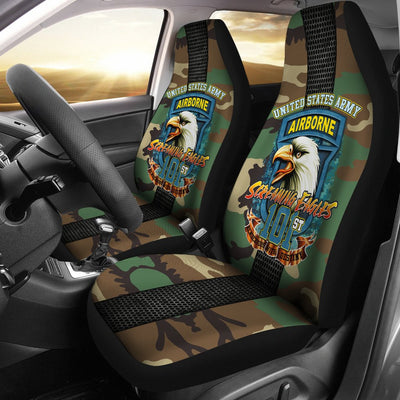 Buy 101st Airborne, Screaming Eagles Car Seat Covers - Familyloves hoodies t-shirt jacket mug cheapest free shipping 50% off