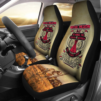 Native America day to honor the truth of history car seat cover