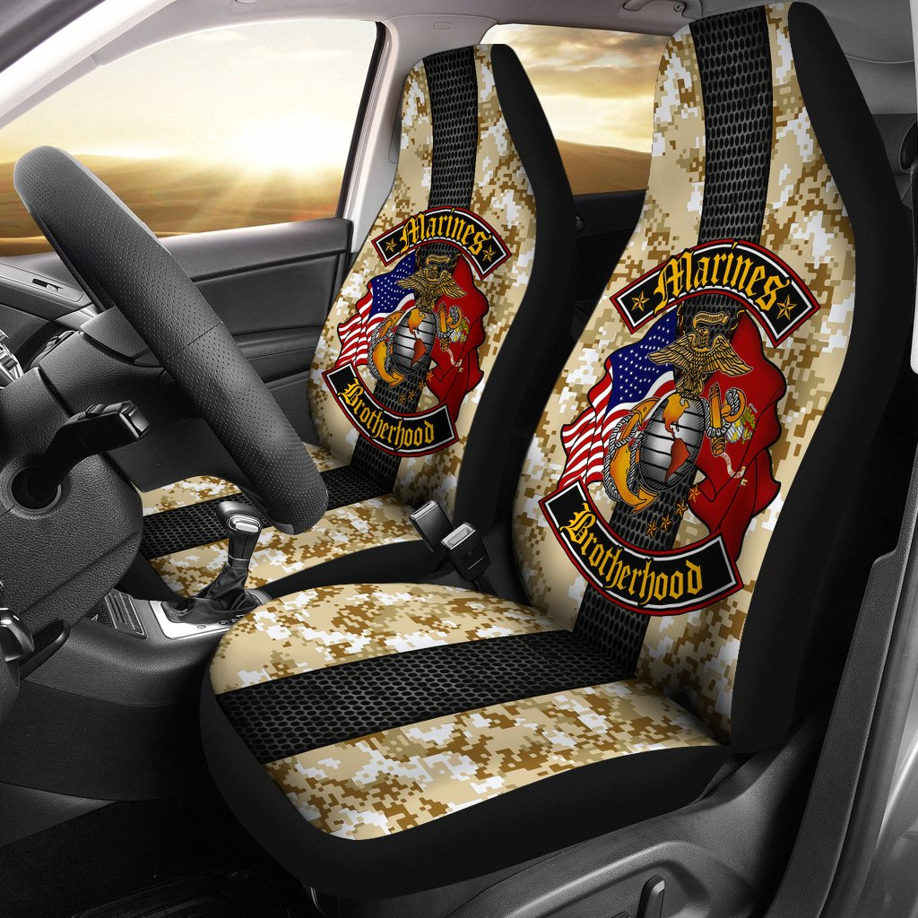 Buy Marines Brotherhood Car Seat Covers - Familyloves hoodies t-shirt jacket mug cheapest free shipping 50% off