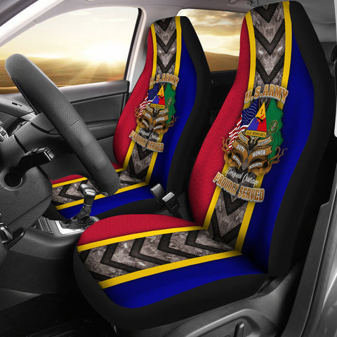 US Army 1st Armored Division Car Seat Cover  - Nichefamily.com