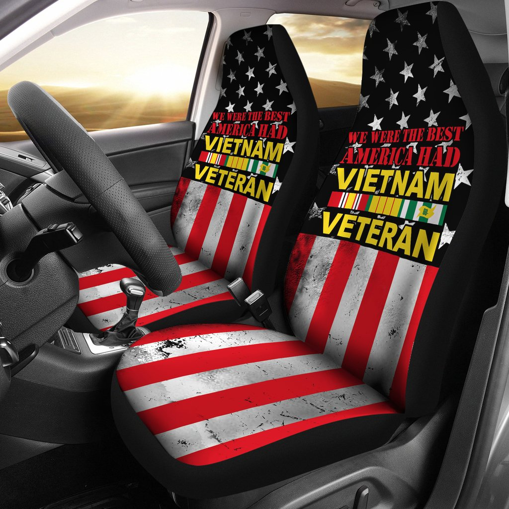 Buy we were the best america had vietnam veteran car seat covers - Familyloves hoodies t-shirt jacket mug cheapest free shipping 50% off