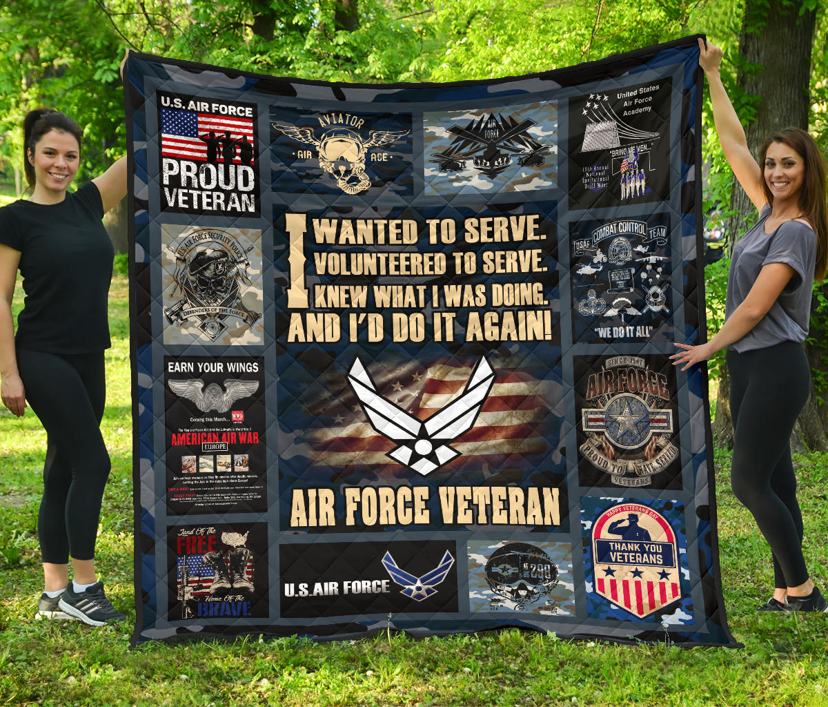 I wanted to serve. I volunteered to serve... Air Force Veteran quilts 1