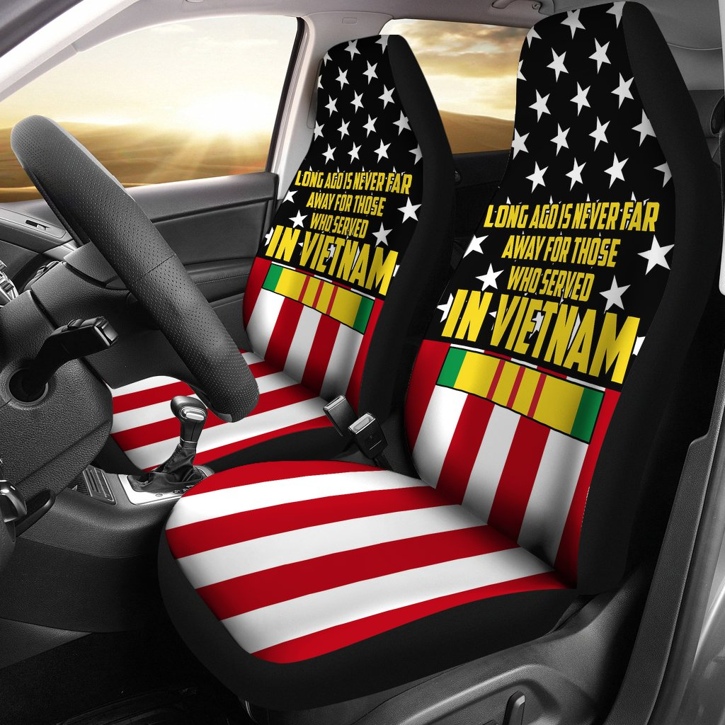 Buy LONG AGO IS NEVER FAR AWAY FOR THOSE WHO SERVED IN VIETNAM CAR SEAT COVER - Familyloves hoodies t-shirt jacket mug cheapest free shipping 50% off