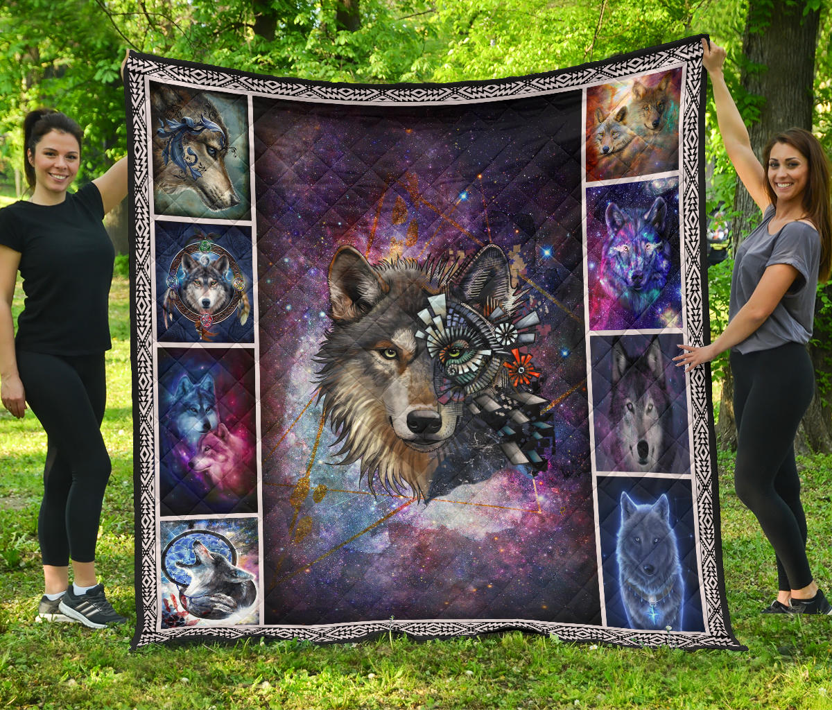Native Wolf Galaxy Quilts