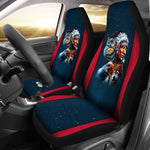 Chief & Spirit Animal Galaxy Background Native American Car Seat Cover  car seat covers, carthook_checkout, carthook_native, meta-size-chart-car-seat, native, Native America, Native American-