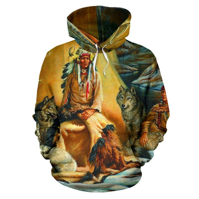 NATIVE AMERICAN  ARCHIVES OVER PRINT HOODIE