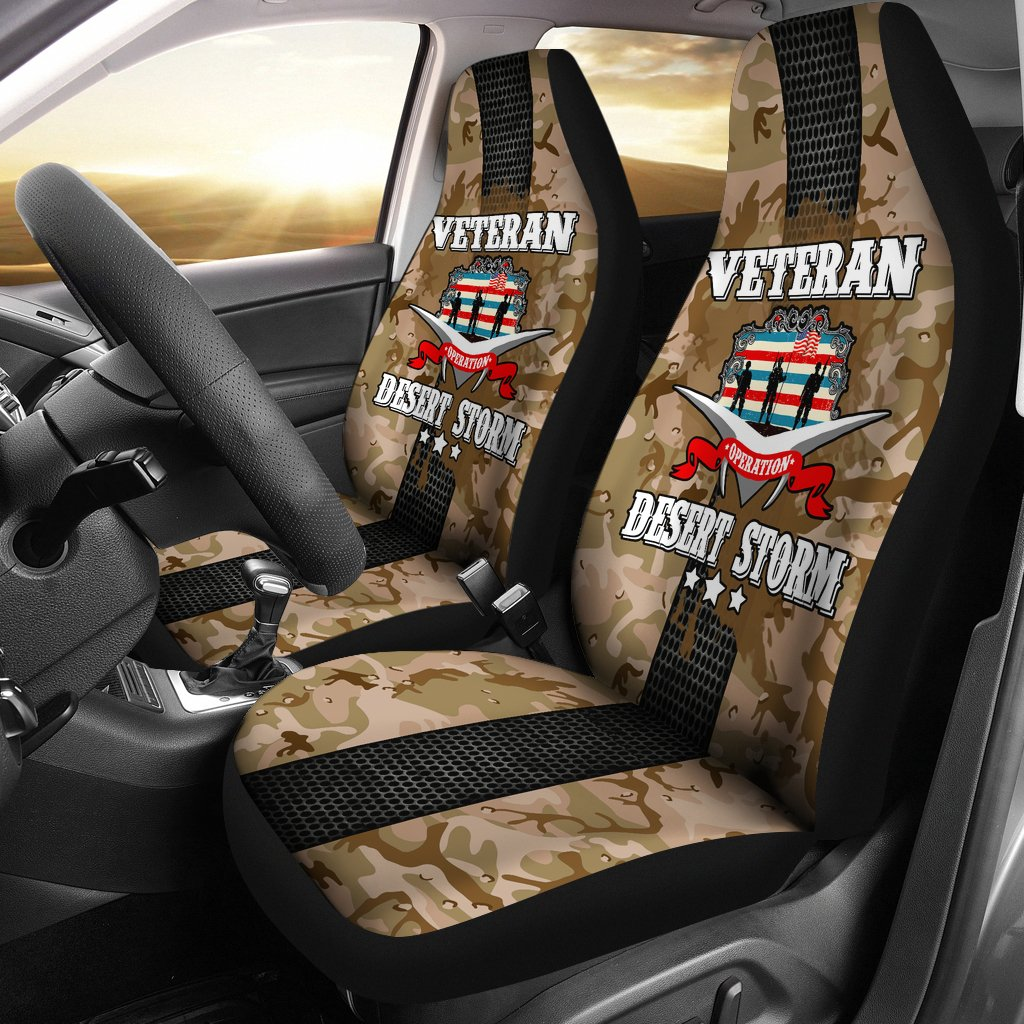 Buy Operation Desert Storm Veteran car seat cover - Familyloves hoodies t-shirt jacket mug cheapest free shipping 50% off