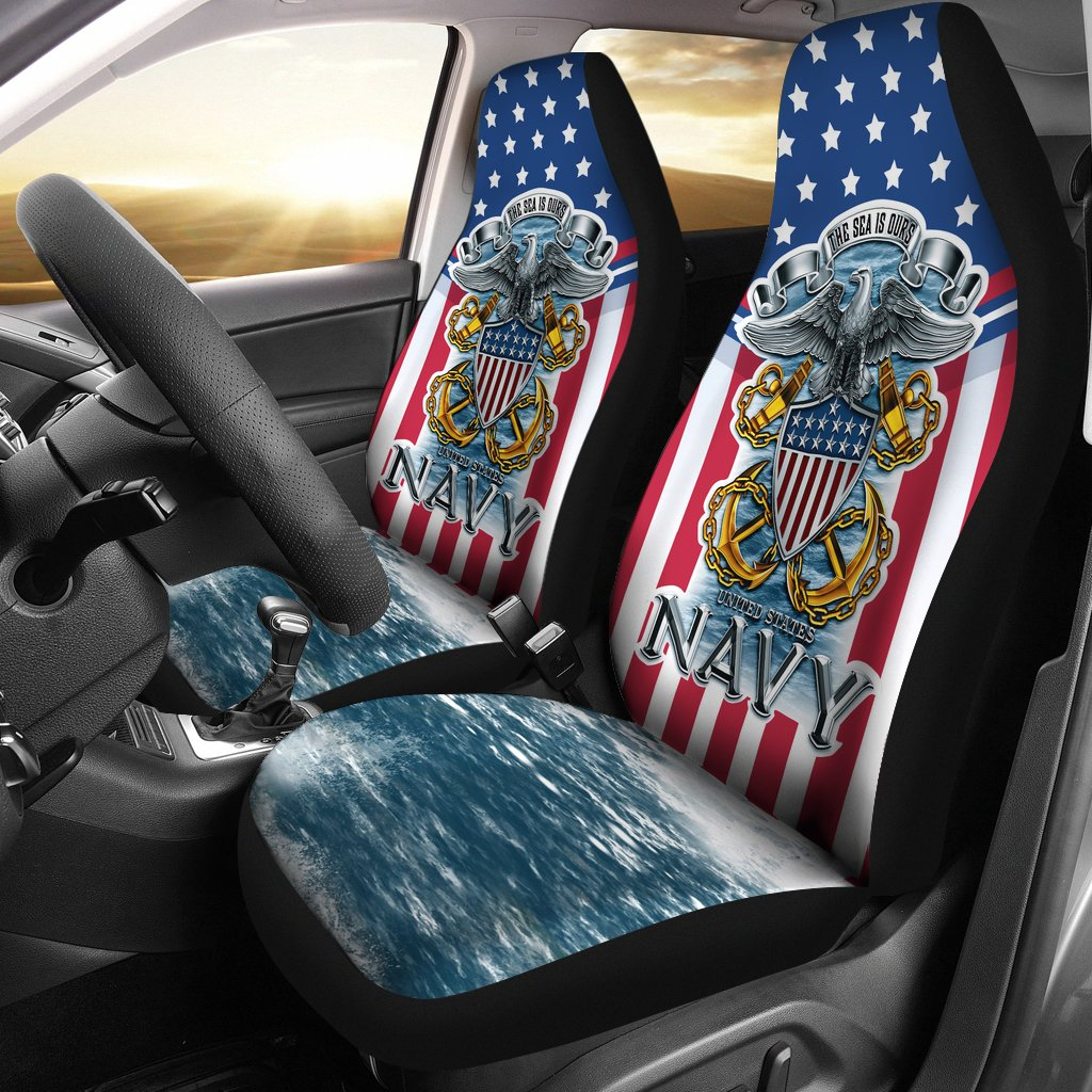 U.S Navy the sea is ours car seat cover