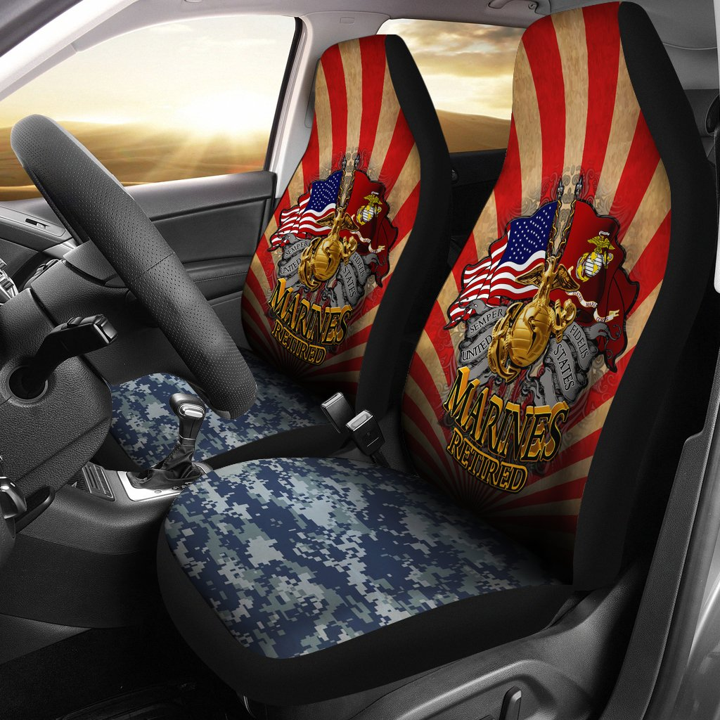 Semper fidelis U.S Marines retired car seat cover