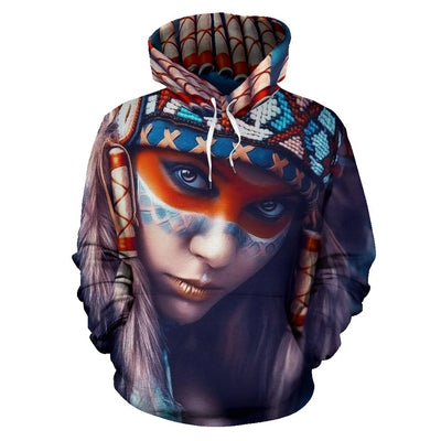 AMERICAN NATIVE LIMITED EDITION OVER PRINT HOODIE