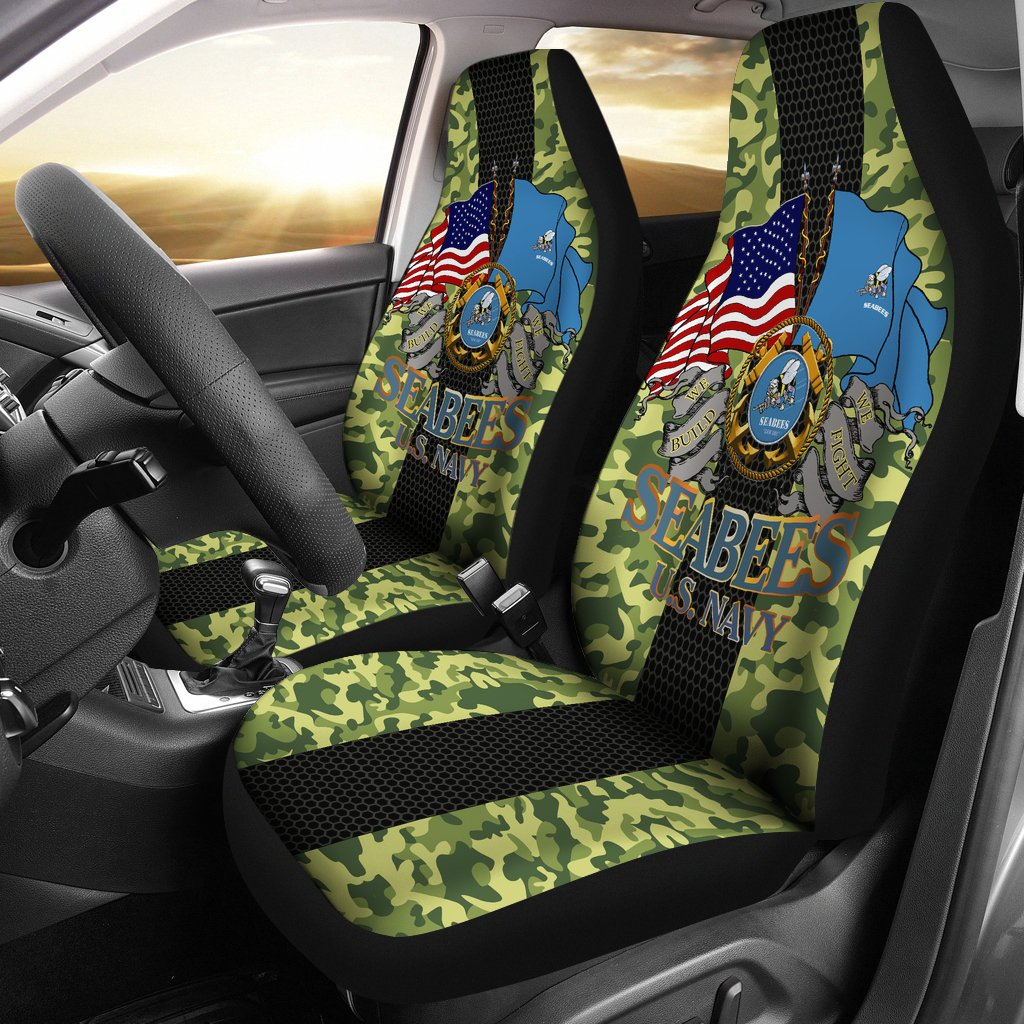 U.S Navy Seabees Car Seat Covers