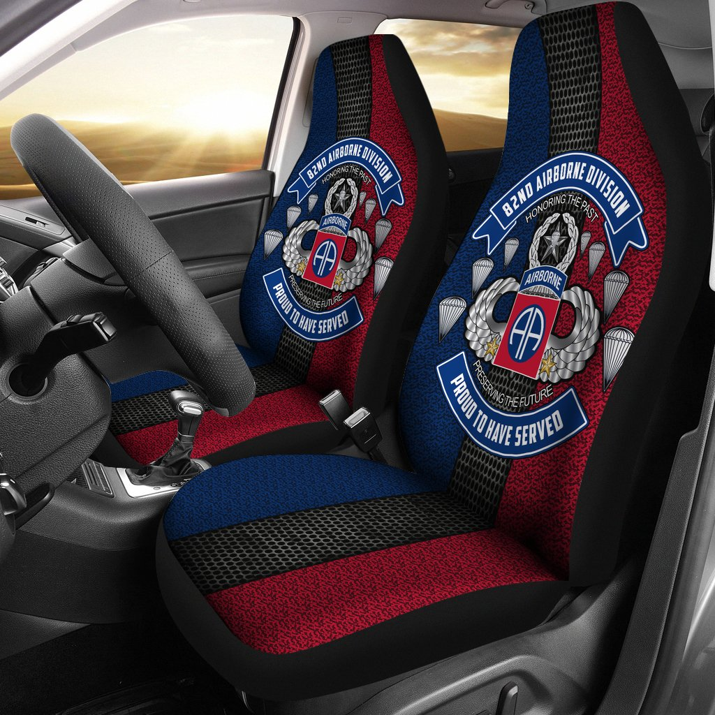 Buy 82nd Airborne Division Proud to have served Car Seat Covers - Familyloves hoodies t-shirt jacket mug cheapest free shipping 50% off