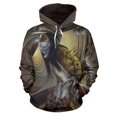 NATIVE AMERICAN INDIAN ARTISTS OVER PRINT HOODIE