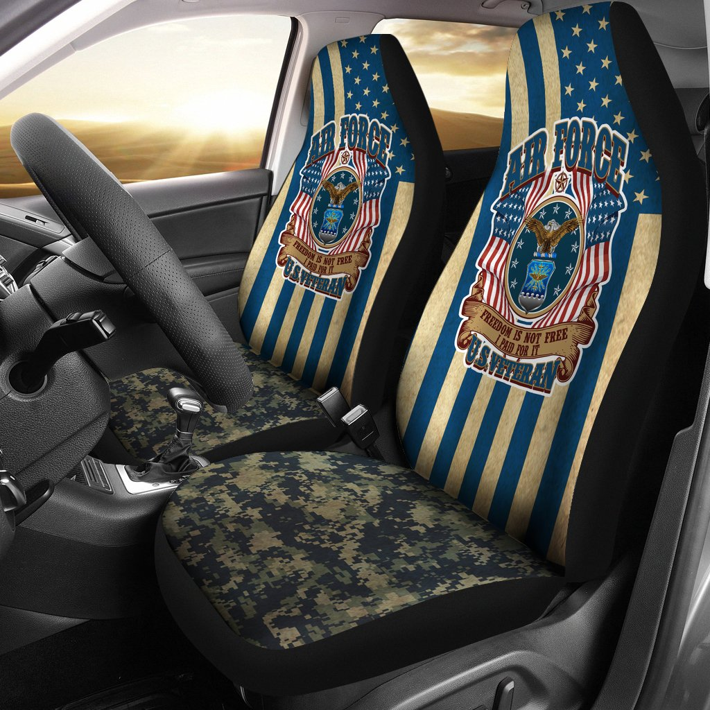 AIR FORCE, FREEDOM IS NOT FREE, I PAID FOR IT CAR SEAT COVER