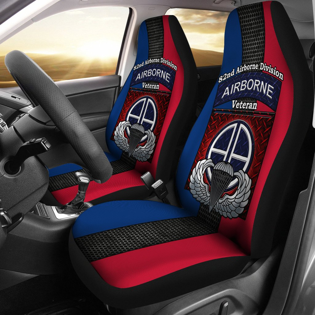 82nd Airborne Division Airborne veteran Car Seat Covers