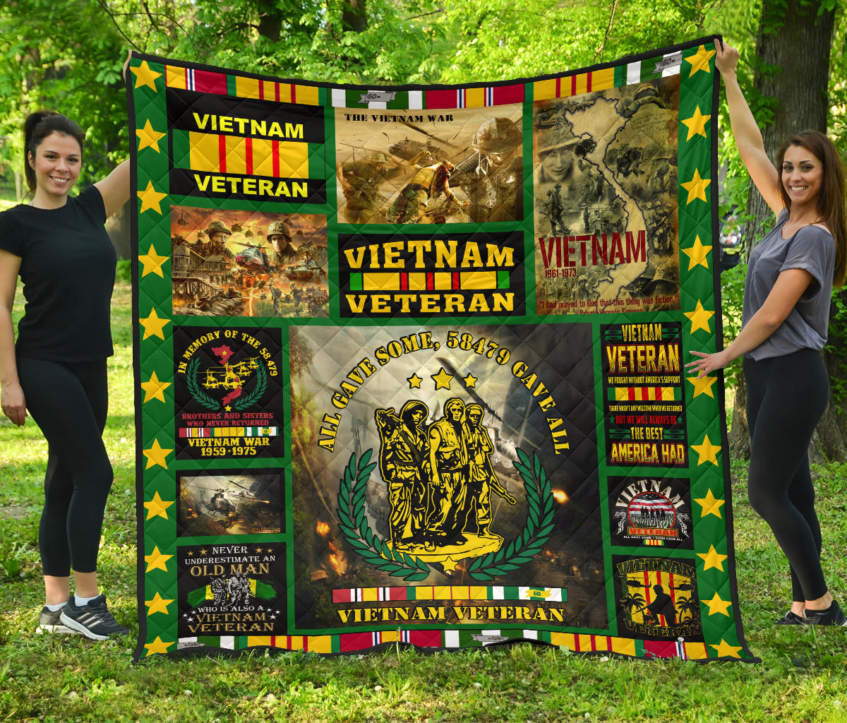 All gave some, 58479 gave some Vietnam veteran... Quilt