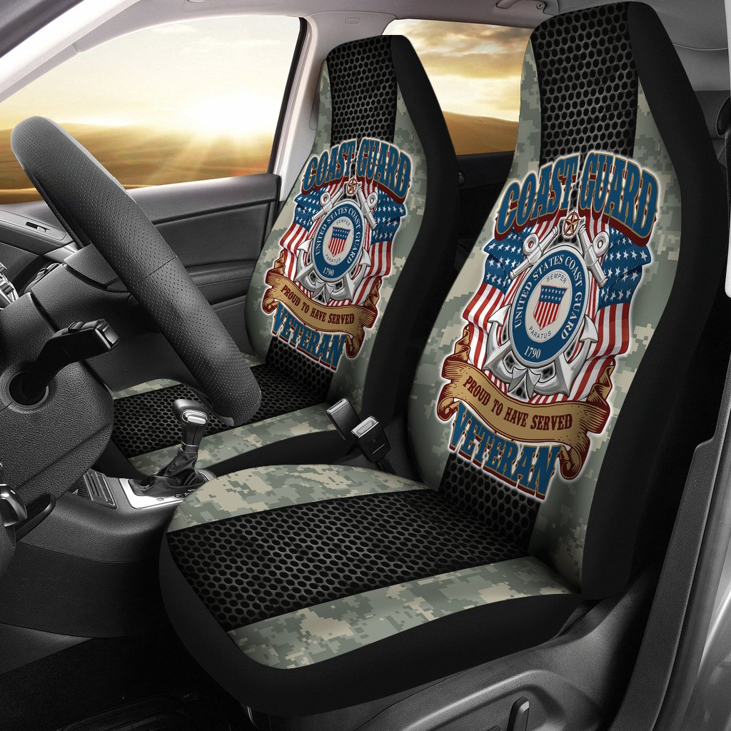 U.S COAST GUARD PROUD TO HAVE SERVED VETERAN CAR SEAT COVERS