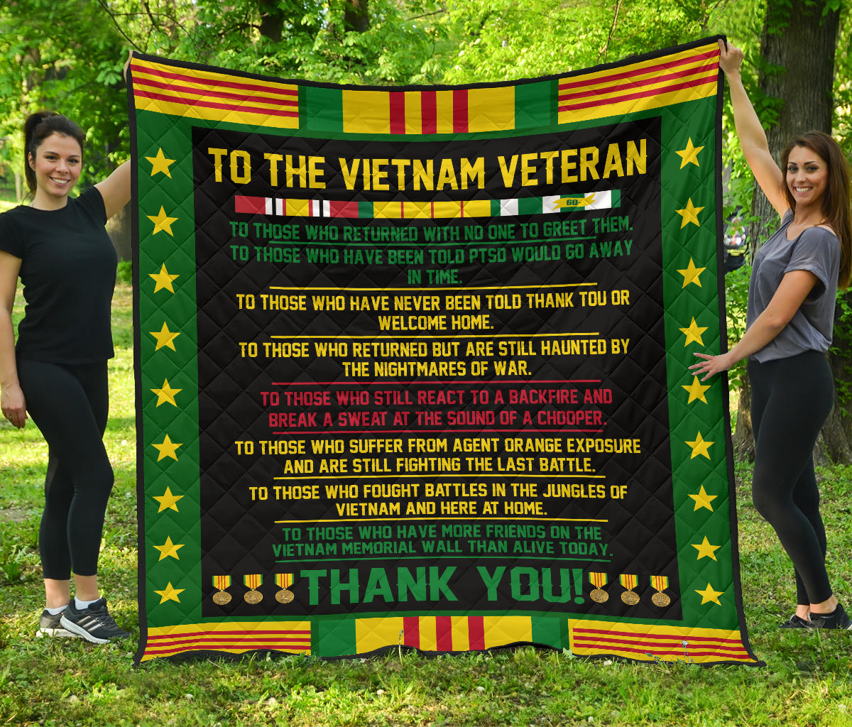 To The Vietnam Veteran... Quilts