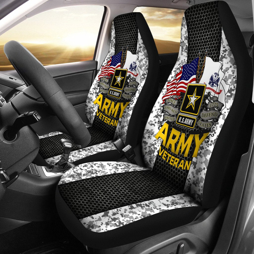 Buy U.S Army veteran Car Seat Covers - Familyloves hoodies t-shirt jacket mug cheapest free shipping 50% off