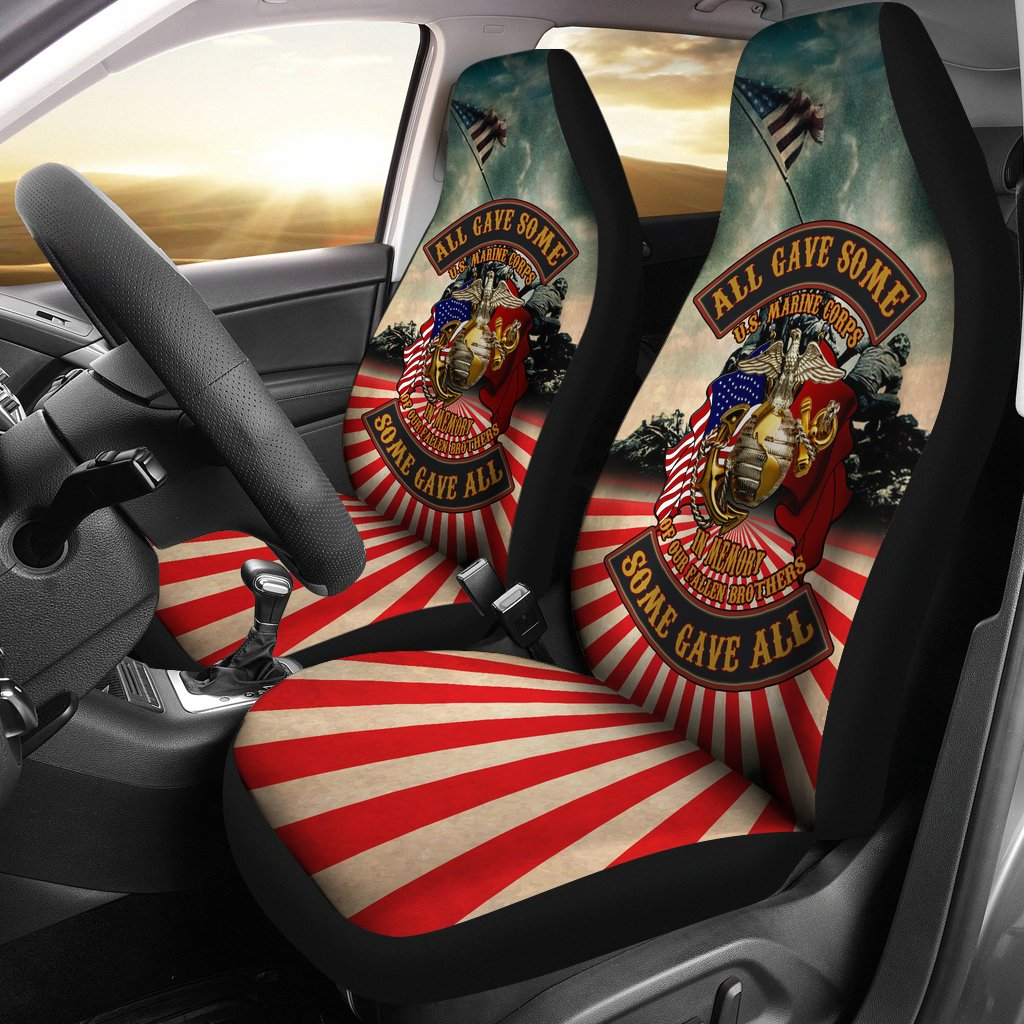all gave some some gave all u.s marine corps car seat cover