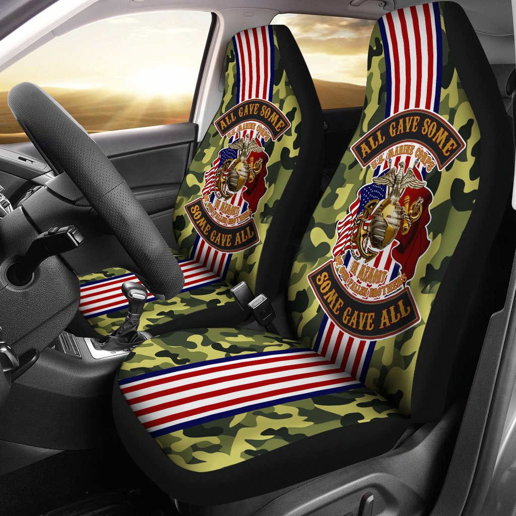 All gave some some gave all U.S Marine car seat cover