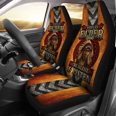 When an elder speaks be silent and listen car seat cover