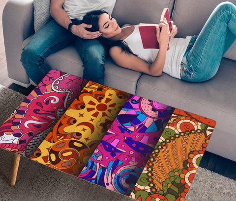 HandCrafted Abstract Colorful Art Coffee Table  - Nichefamily.com