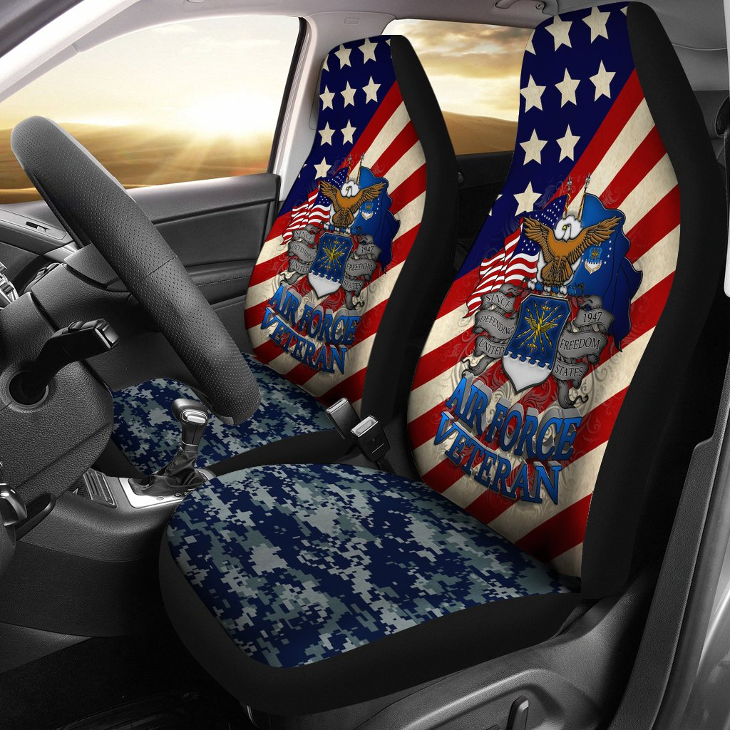 U.S Airforce Veteran Car Seat Cover