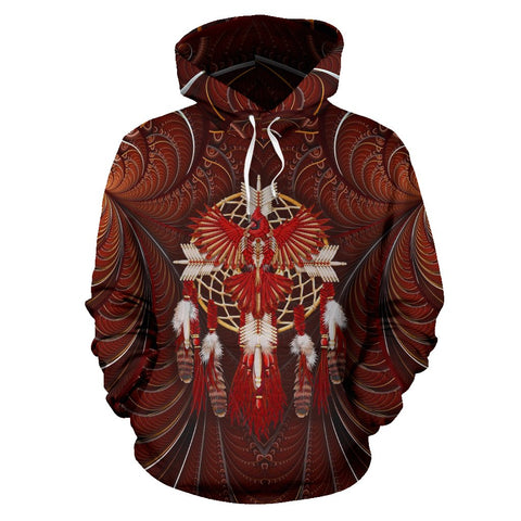 DREAMCATCHER EAGLE NATIVE All Over Hoodie  carthook_checkout, meta-size-chart-all-over-print-hoodie, native, Native America, Native American, overprinthoodie- Nichefamily.com