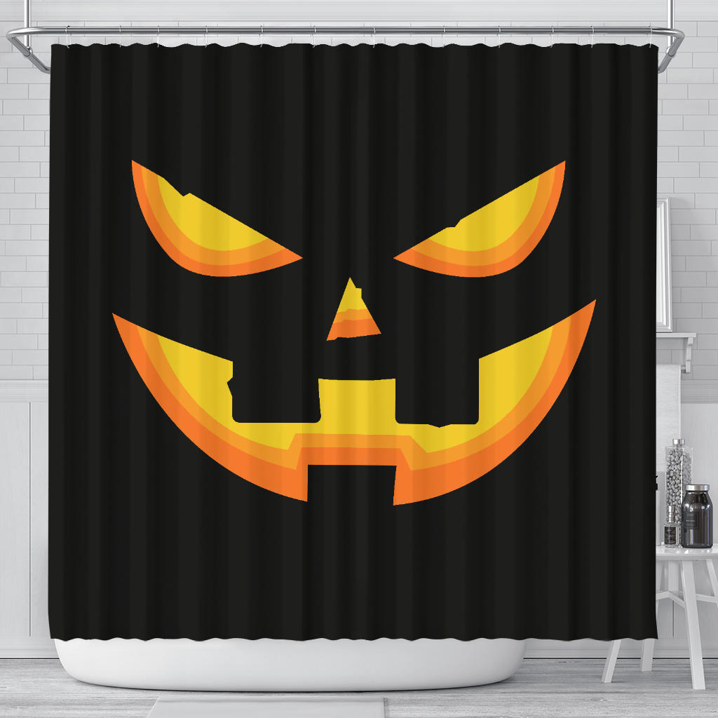 Pumpkin Face Shower Curtain