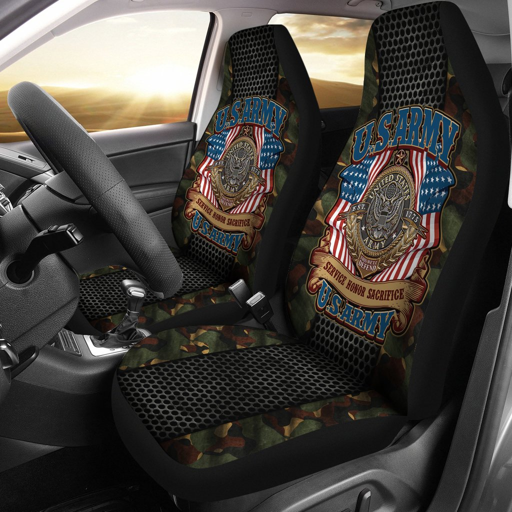 U.S.ARMY VETERAN SERVICE HONOR SACRIFICE CAR SEAT COVER