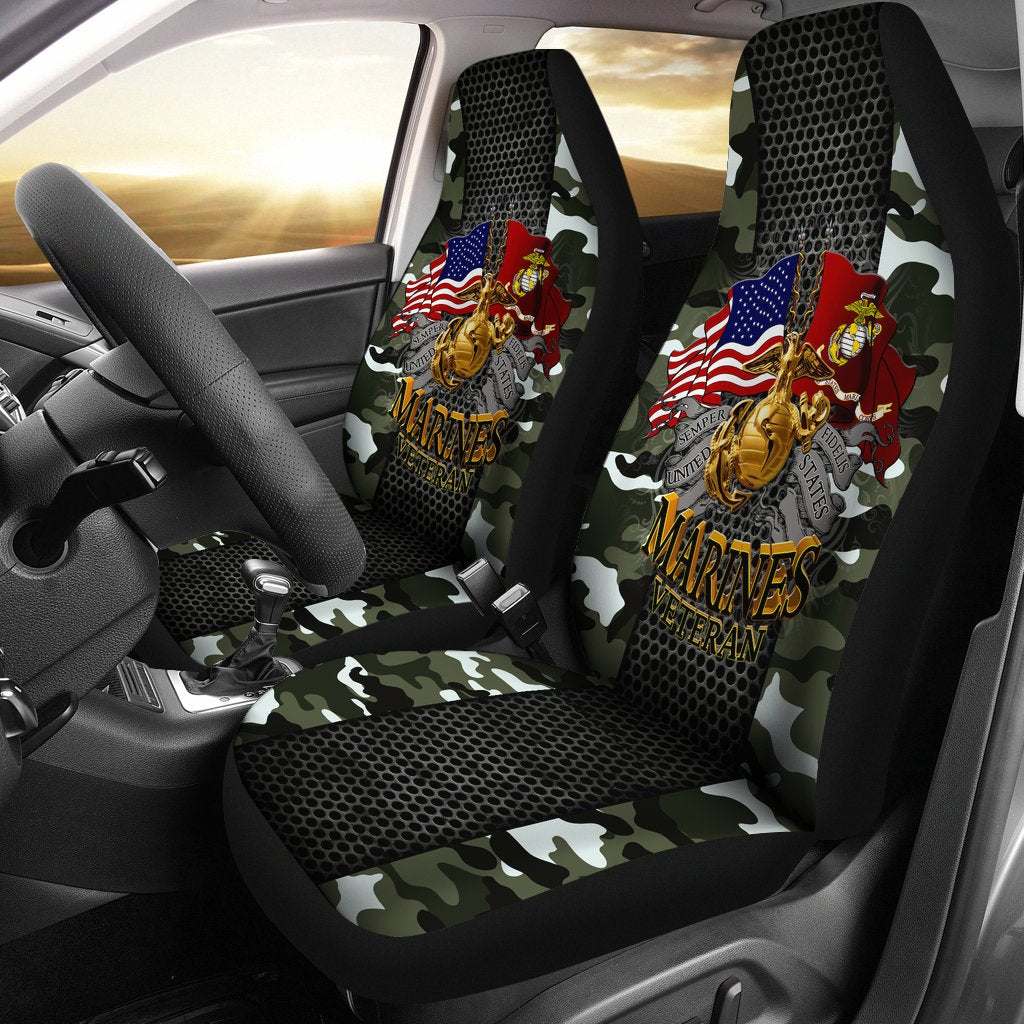 Semper fidelis united states marines veteran Car Seat Covers