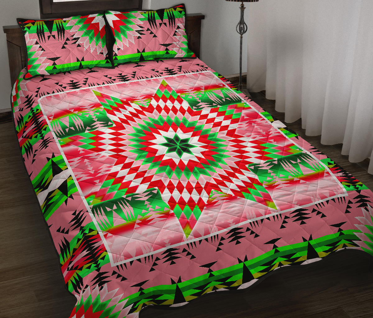 Tropical Forest Star Quilt
