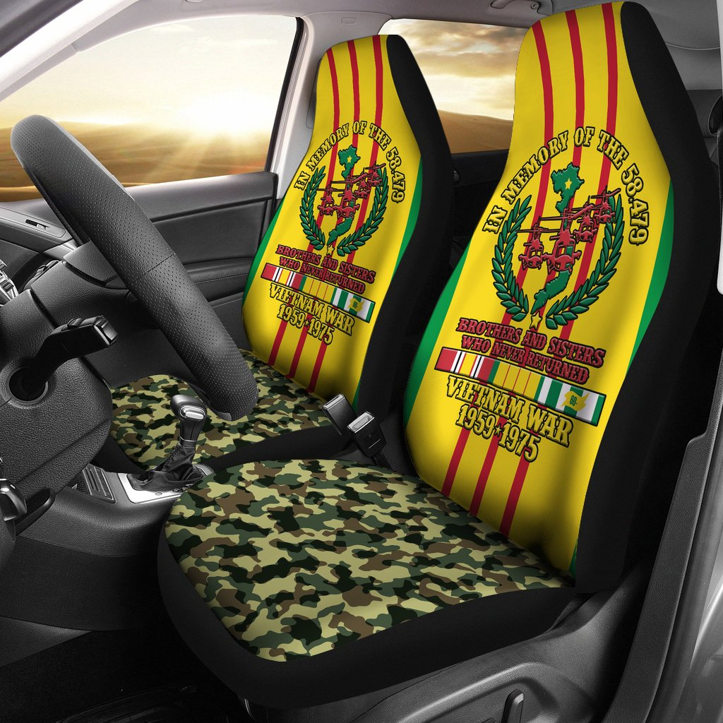 In memory of the 58,479 Vietnam veteran Car Seat Covers