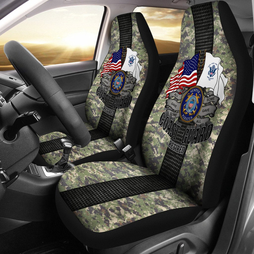 U.S Coast Guard Retired Car Seat Covers