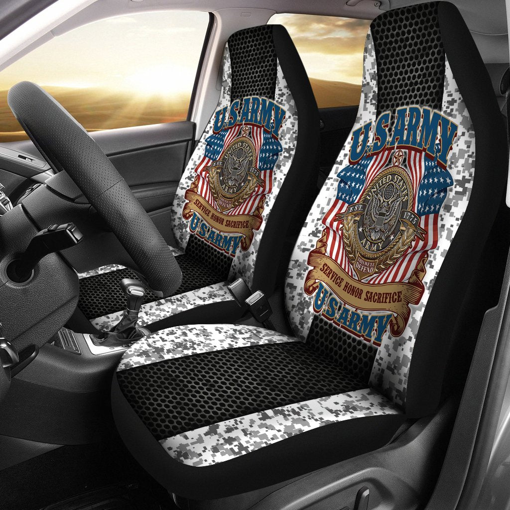 U.S.ARMY VETERAN SERVICE HONOR SACRIFICE CAR SEAT COVERS